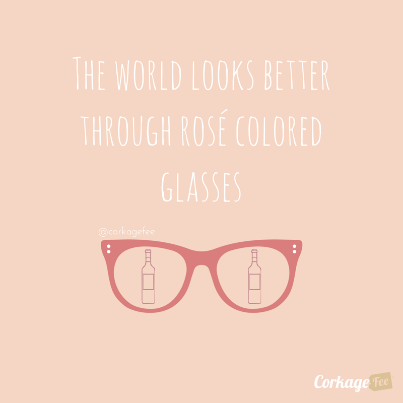 Rosé Colored Glasses
